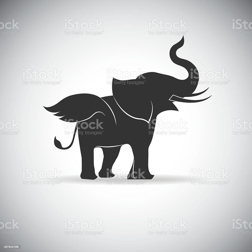 Silhouette Wings Elephant vector art illustration