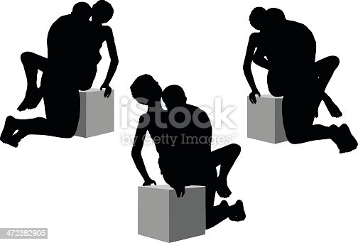 silhouette with kama sutra positions on white background stock vector art more images of. Black Bedroom Furniture Sets. Home Design Ideas