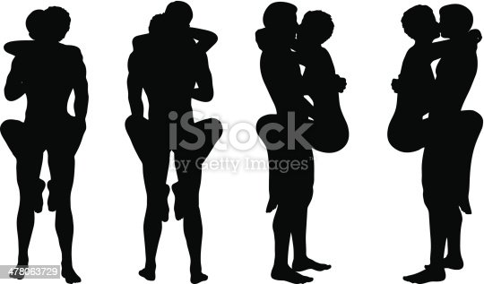 Silhouette With Kama Sutra Positions On White Background Stock Vector Art  More -2990