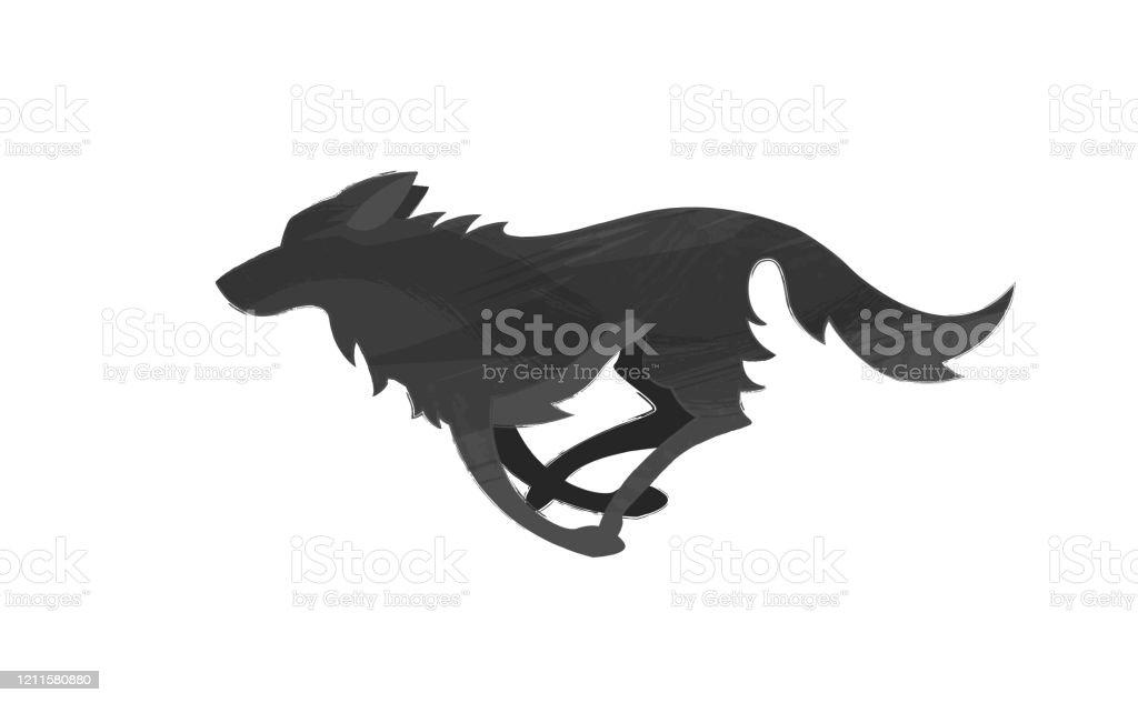 走っているオオカミの明るい質感を持つシルエット オオカミのベクターアート素材や画像を多数ご用意 Istock