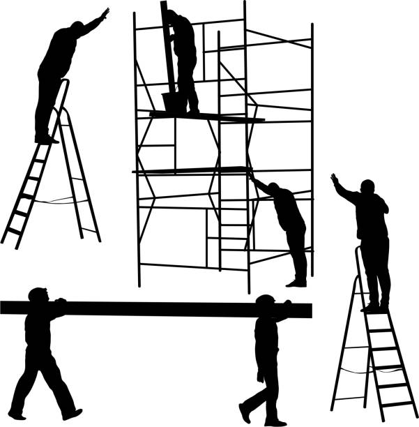 Top 60 Ladder Safety Clip Art, Vector Graphics and