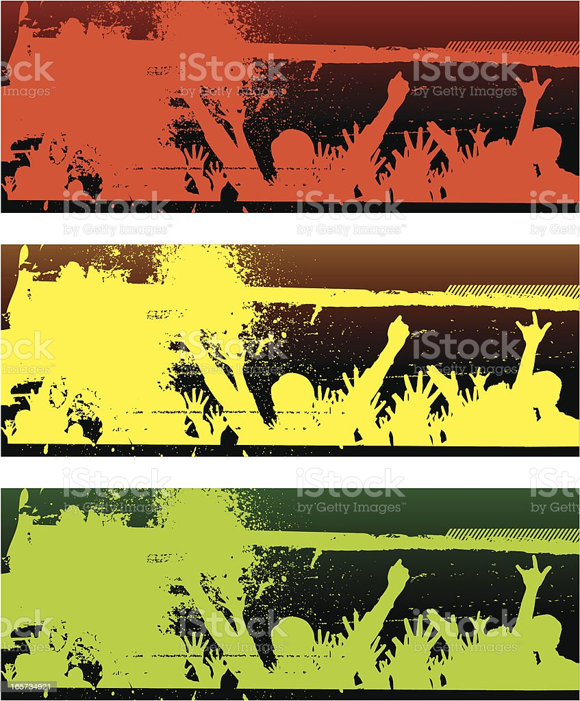 Silhouetted Cheering Crowd royalty-free silhouetted cheering crowd stock vector art & more images of abstract