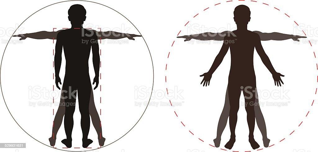 Umrisse Menschlicher Körper Stock Vektor Art und mehr Bilder von ...
