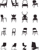 Silhouettes chairs set