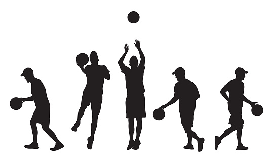 Silhouettes Ff Man Playing Basketball