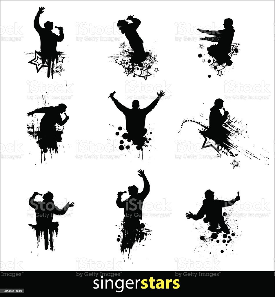 Silhouettes for banners vector art illustration