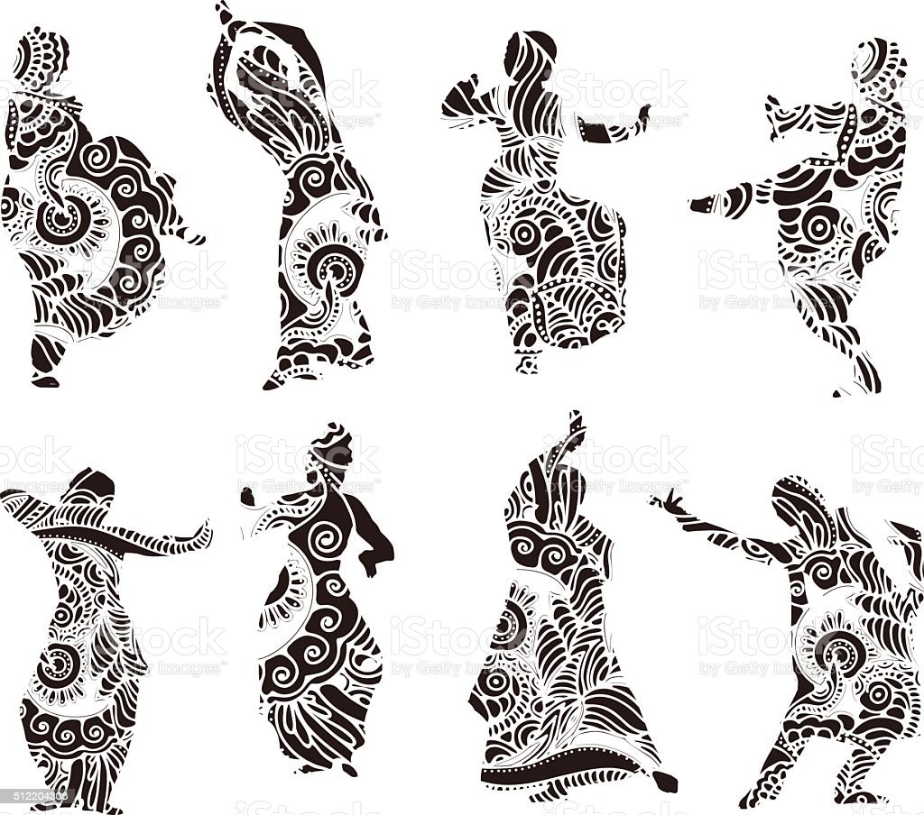 Royalty Free Indian Dance Clip Art Vector Images