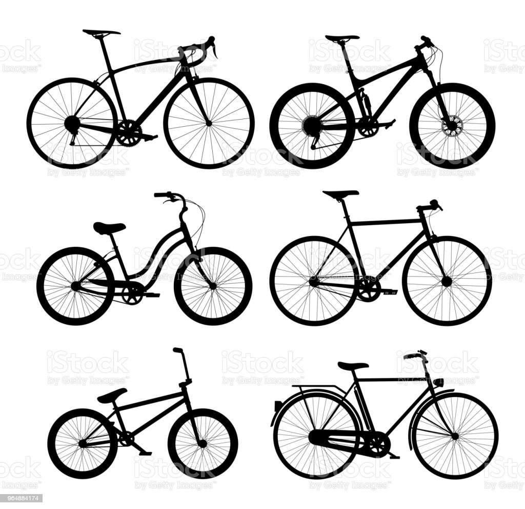 Silhouettes of bicycles set royalty-free silhouettes of bicycles set stock vector art & more images of bicycle