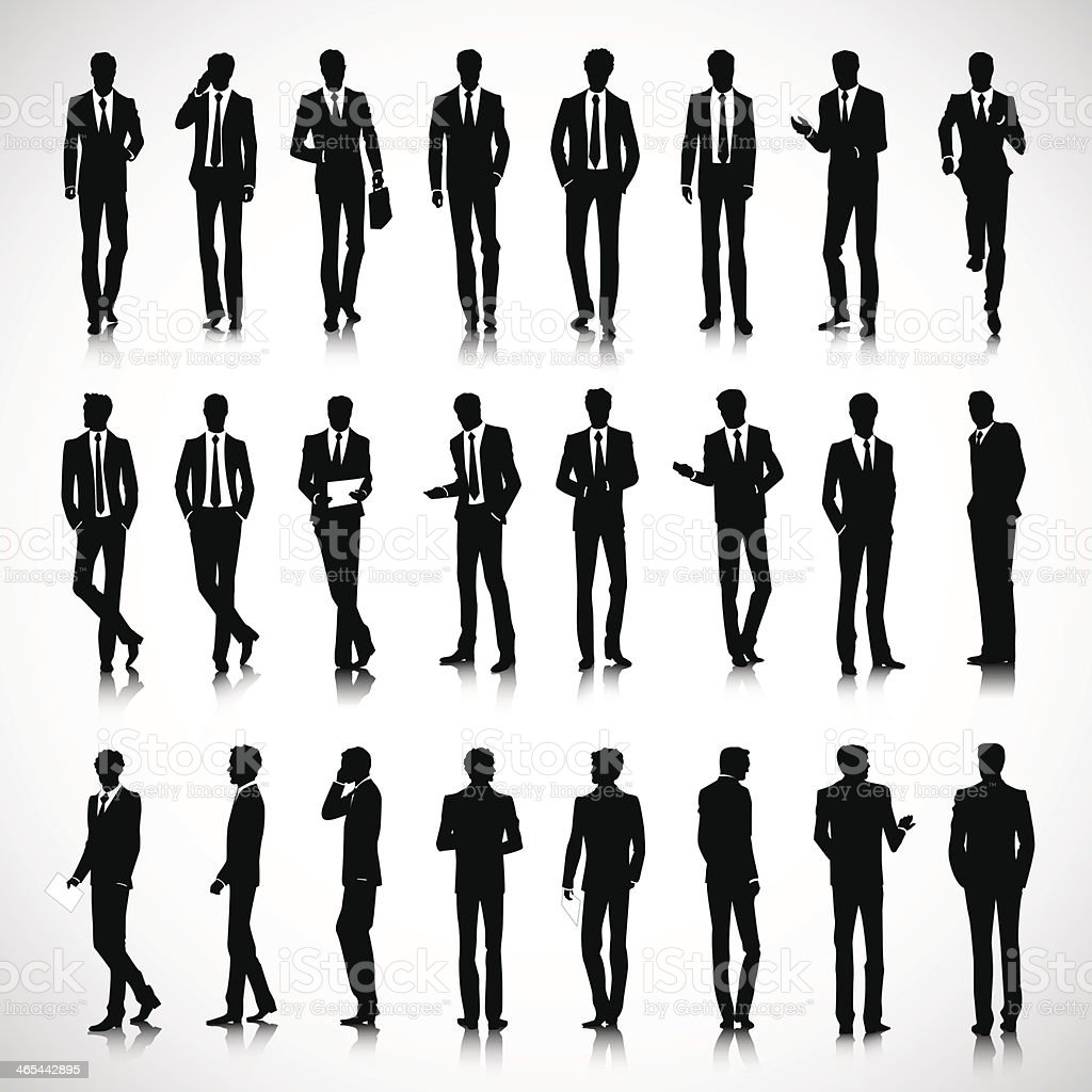 Silhouetten von business-Männer – Vektorgrafik