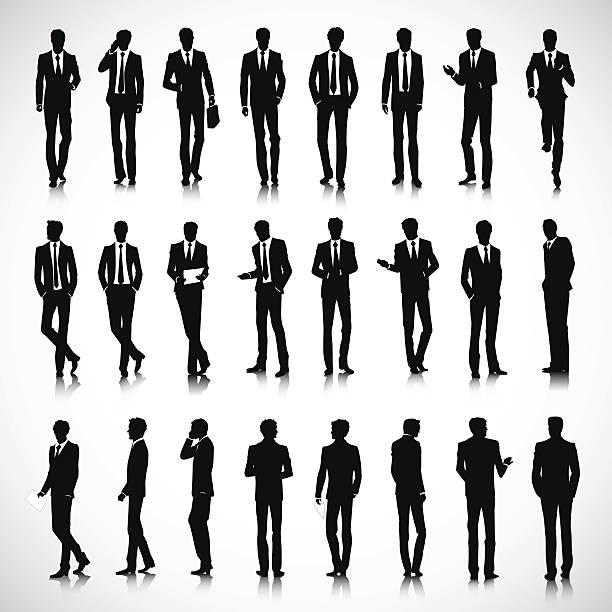 シルエットビジネスの男性 - ビジネスマン点のイラスト素材/クリップアート素材/マンガ素材/アイコン素材