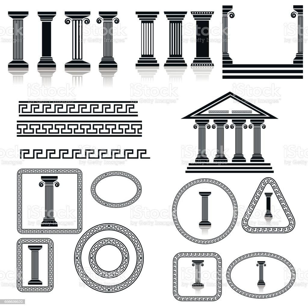 Silhouettes of Columns