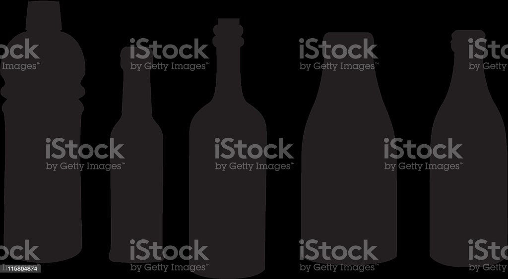 Silhouettes of different bottles royalty-free silhouettes of different bottles stock vector art & more images of beer - alcohol