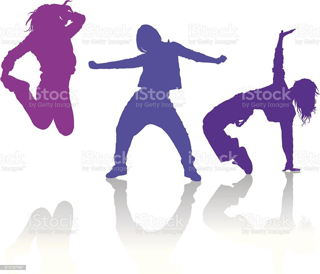 royalty free hip hop dancers clip art vector images illustrations rh istockphoto com Dance Logo Clip Art Hip Hop Dance Clip Art