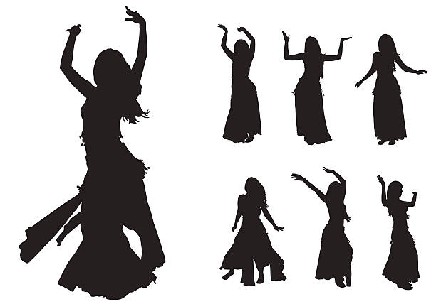 belly dancer silhouette royalty free belly dancer clip art vector images 3419