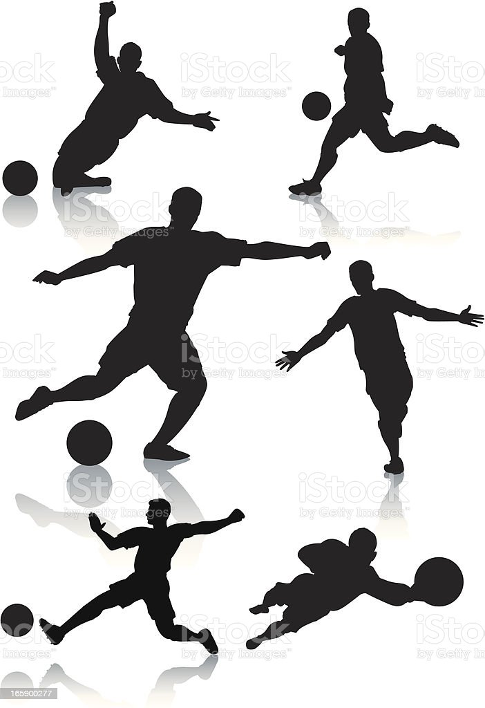 Silhouettes of male soccer players royalty-free silhouettes of male soccer players stock vector art & more images of adult