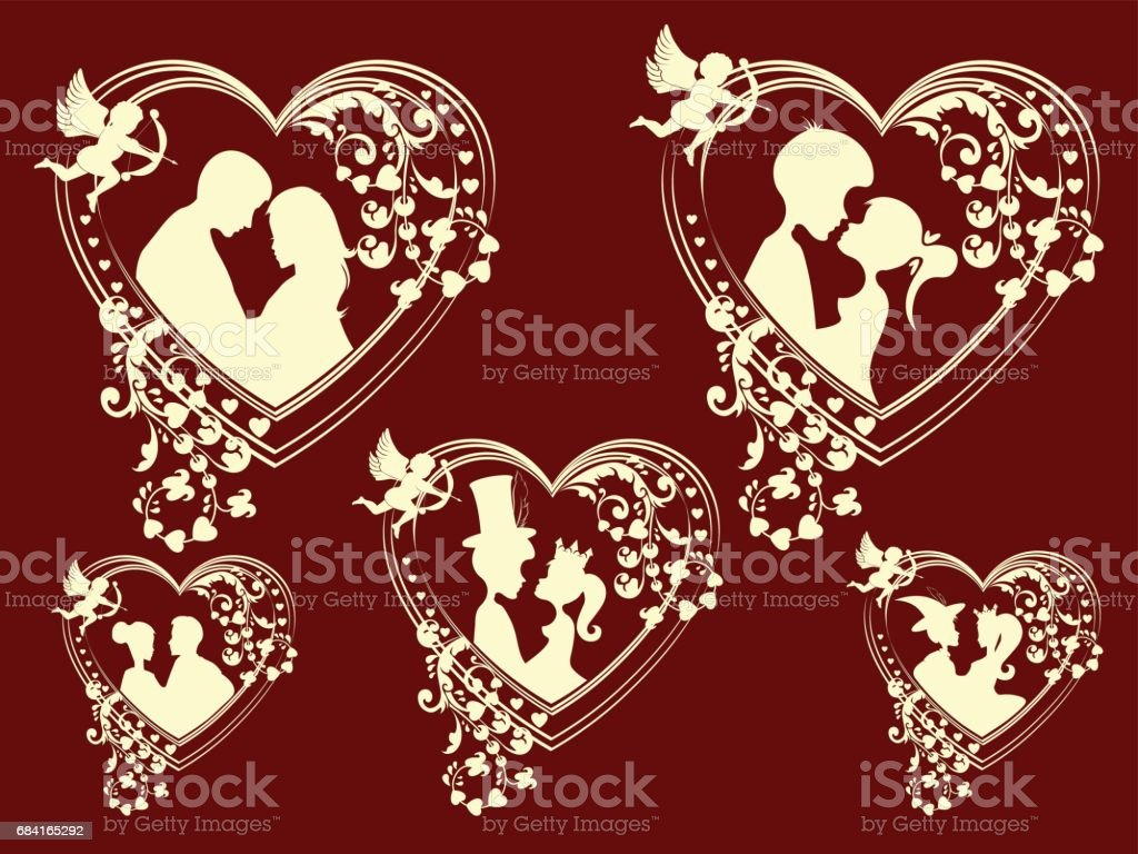 silhouettes of men and women, retro set royalty-free silhouettes of men and women retro set stock vector art & more images of adult
