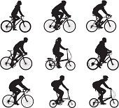 Silhouettes of people riding bicycleshttp://www.twodozendesign.info/i/1.png