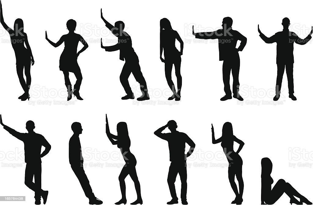 Silhouetten von Personen – Vektorgrafik