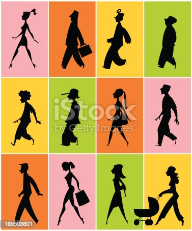 istock silhouettes of people walking 165503601