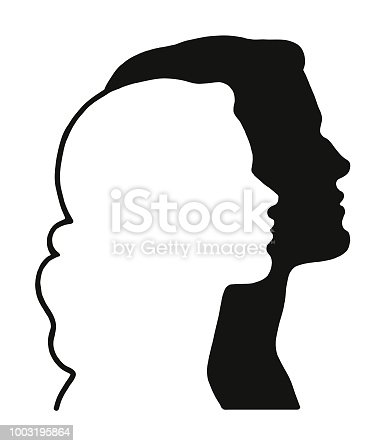 istock Silhouettes of Two People 1003195864