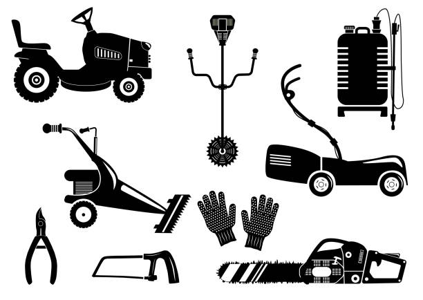 Royalty Free Weed Whacker Clip Art, Vector Images