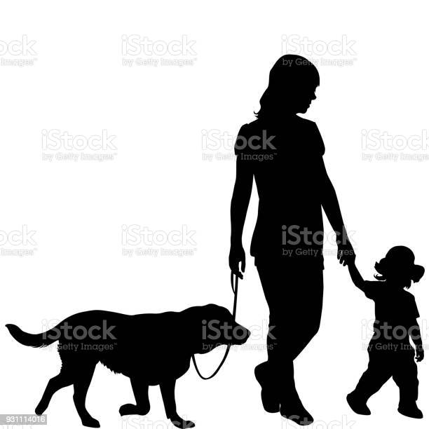 Silhouettes of woman with kid and dog vector id931114016?b=1&k=6&m=931114016&s=612x612&h=gjnrzxm7xn9h1dgix0q7dvqbcsnmdw5bn1bvdbbz1l8=