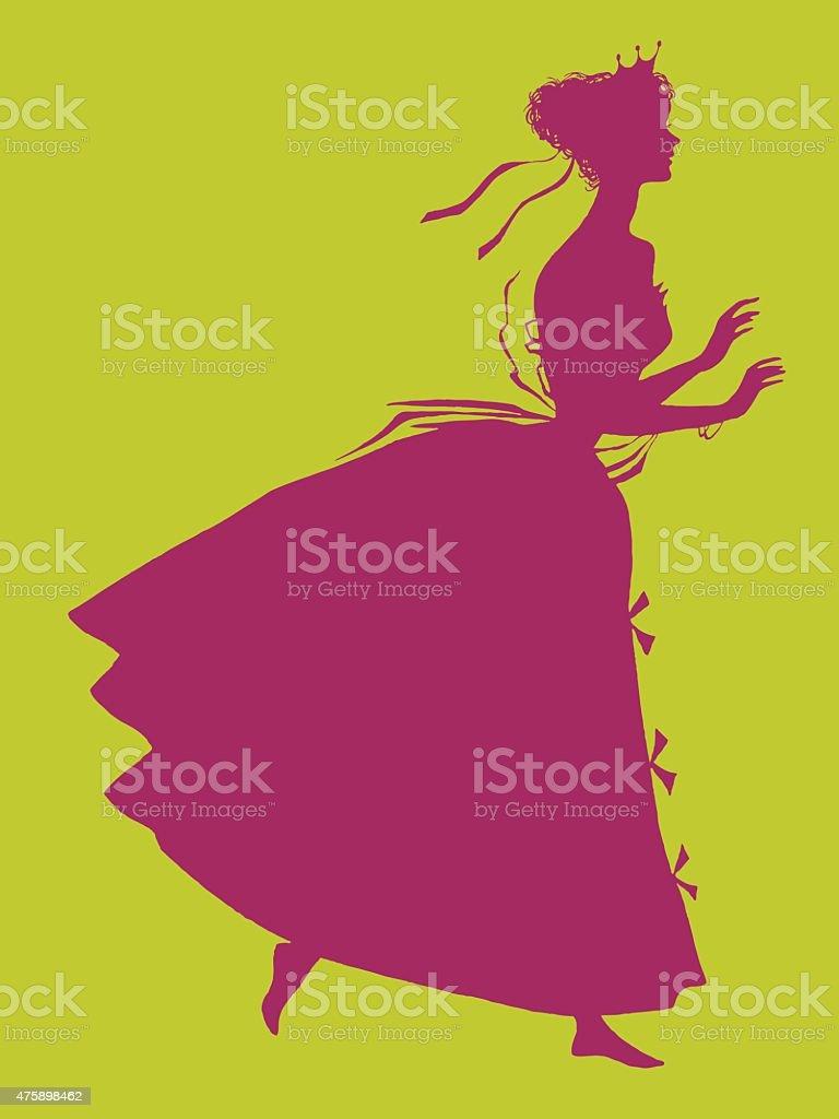 Silhoutte der Frau – Vektorgrafik