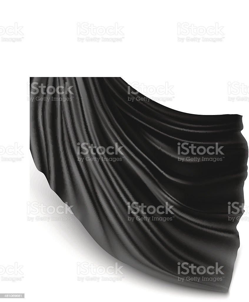 Silk cloth vector art illustration