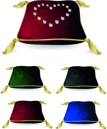 Silk jewelry cushion