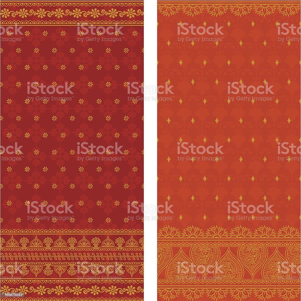 Silk Saris vector art illustration