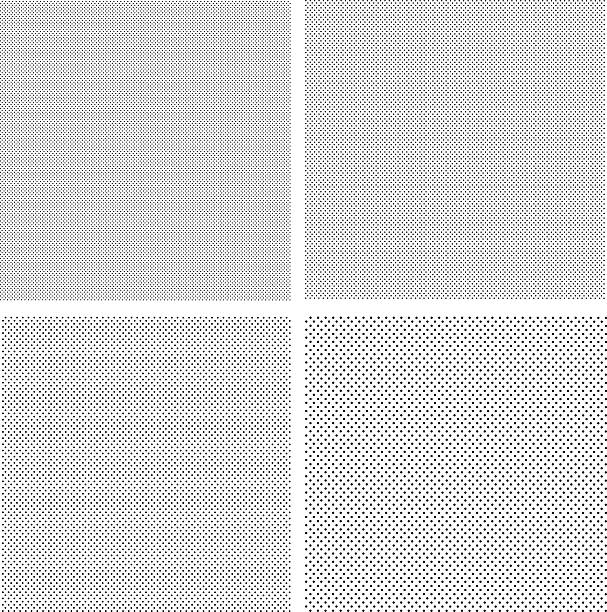 Silk Screen Textures Silk screen texture with dots. Four different size backgrounds. silk screen stock illustrations