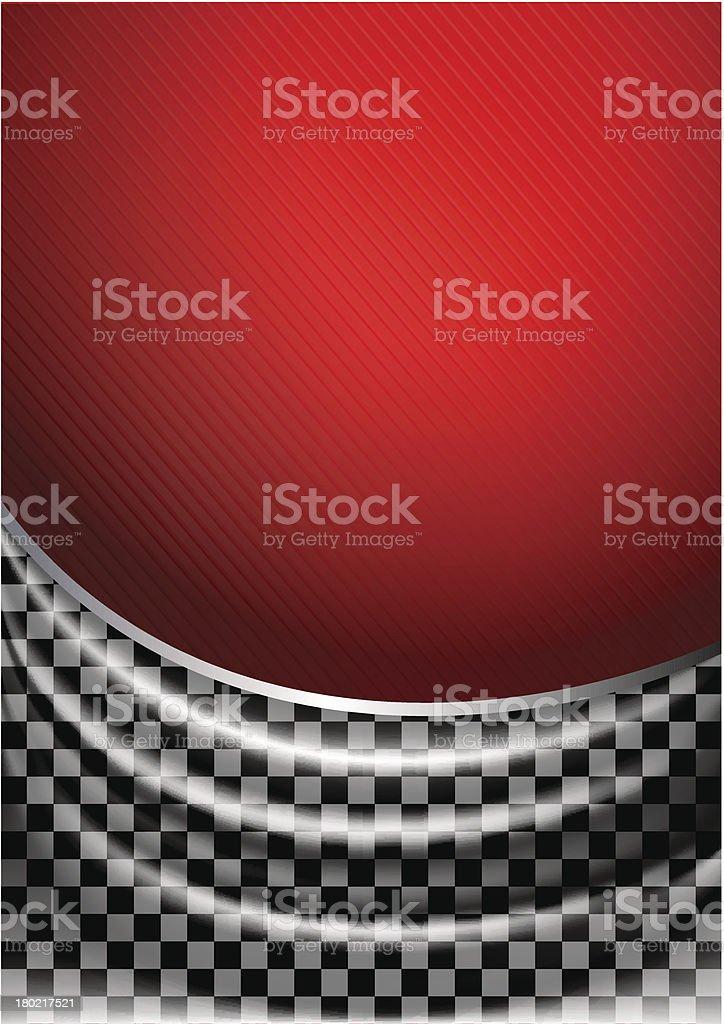 Silk tissue in checkered vector art illustration