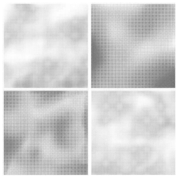 Silkscreen Backgrounds Four different worn halftone pattern backgrounds.  silk screen stock illustrations