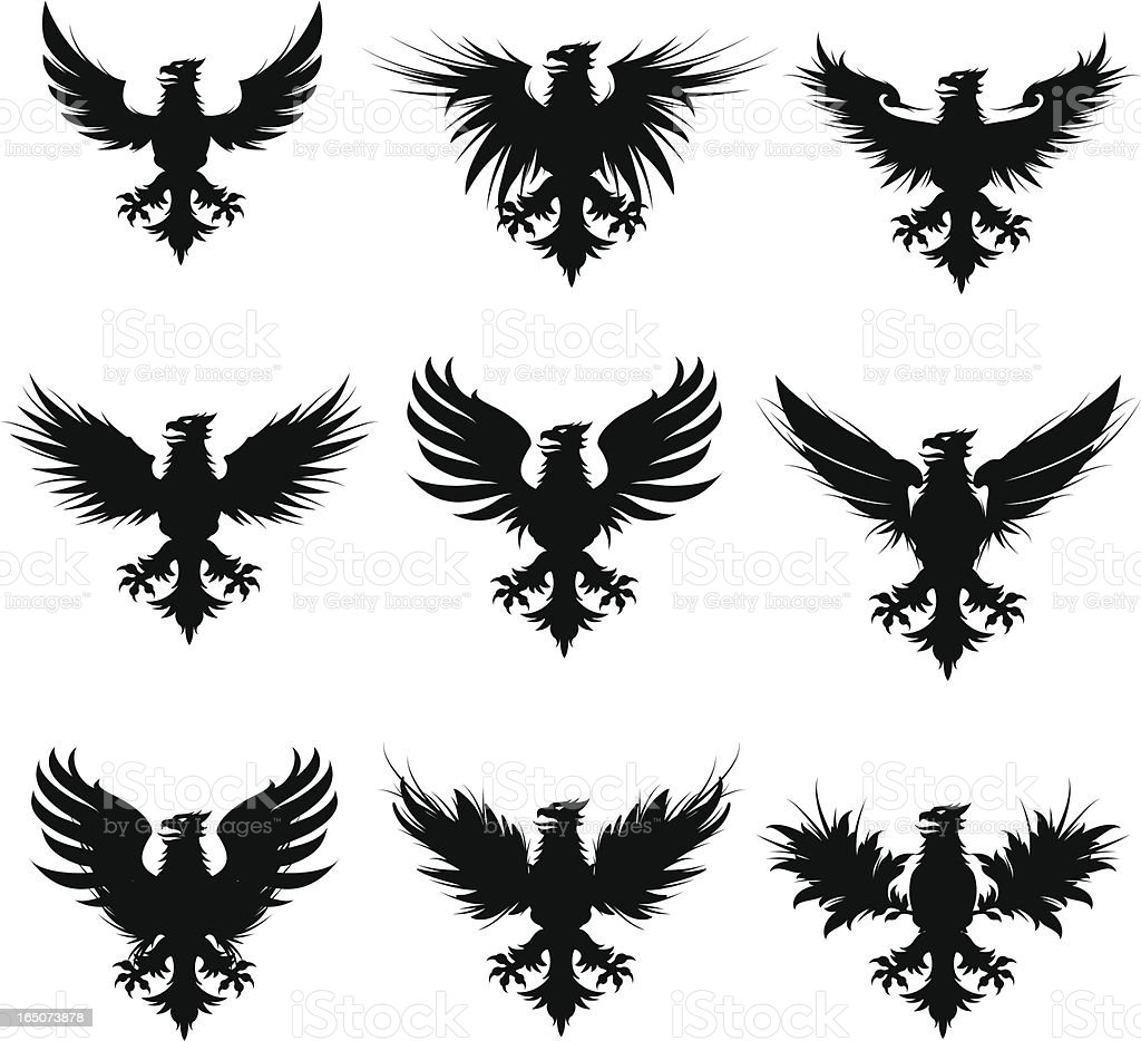 sillouette griffins royalty-free stock vector art