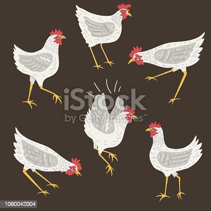 istock Silly Cartoon Chickens 1060042004