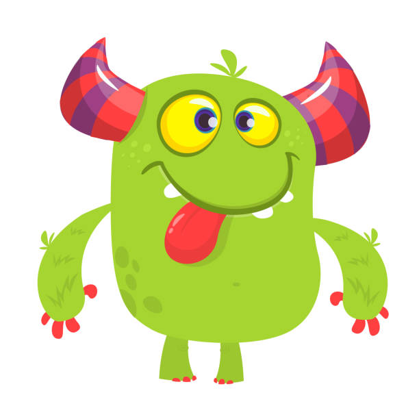 Dumme coole Cartoon Monster. Vektor-illustration – Vektorgrafik