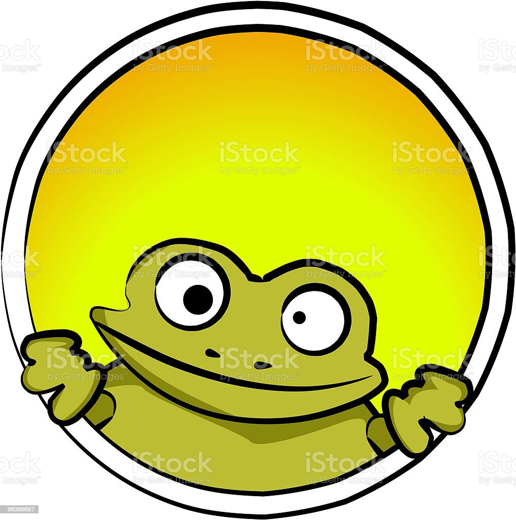 Silly Little Frog royalty-free stock vector art