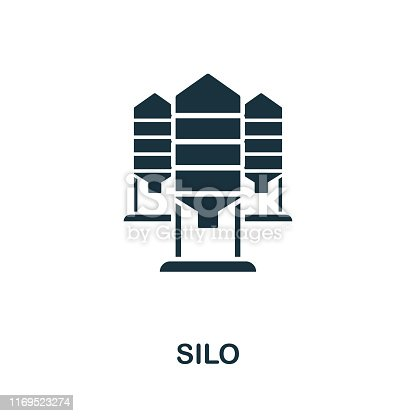 Silo vector icon illustration. Creative sign from farm icons collection. Filled flat Silo icon for computer and mobile. Symbol, logo vector graphics.
