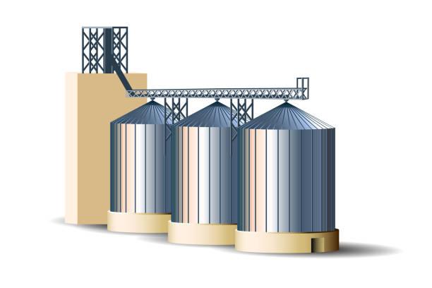 Royalty Free Grain Bin Clip Art, Vector Images ...