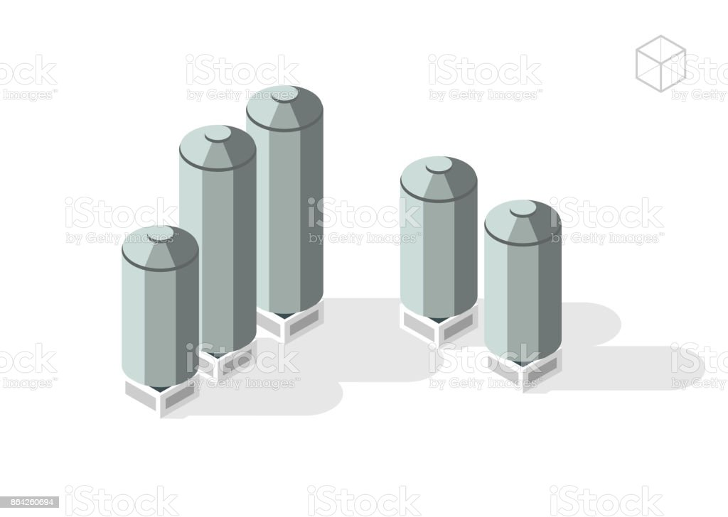 Silos royalty-free silos stock vector art & more images of agriculture