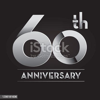 Vector illustration of a royalty free round silver Anniversary  label design. Easy to edit with layers. Download includes high resolution jpg and fully editable vector eps 10.