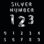 Silver, Alphabet, Font, Typscript, Number