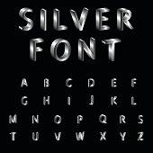 Silver, Alphabet, Font, Typscript