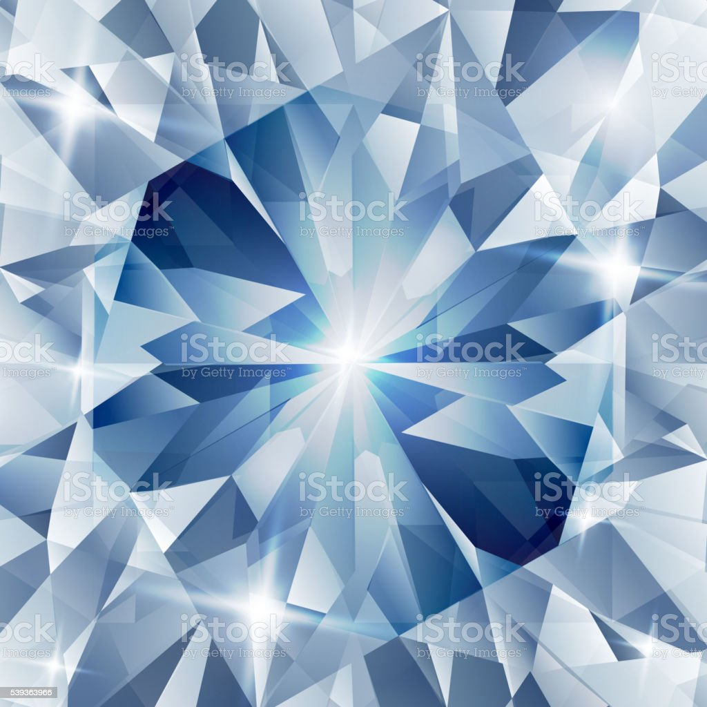 Silver and blue with concept diamond vector art illustration