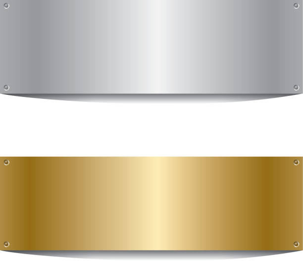 Silberne und goldene Bord – Vektorgrafik