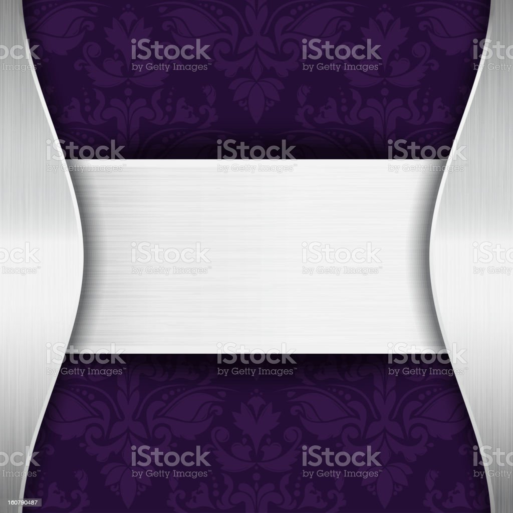 Silver and purple template royalty-free stock vector art