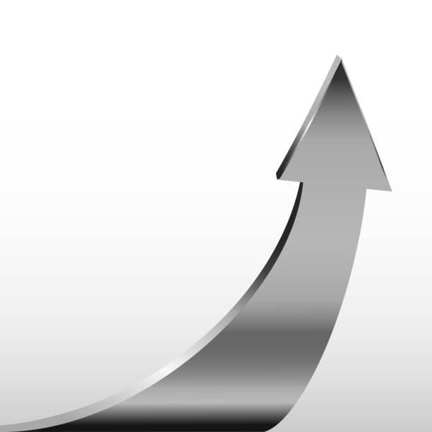 Silberpfeil und weißer Hintergrund – Vektorgrafik