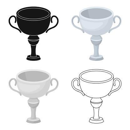 Silver Awardvinnare Av Tävlingen Cupen För Andra Plats Troféer Och Utmärkelser Enda Ikonen I Tecknad Stil Vektor Symbol Lager Web Illustration-vektorgrafik och fler bilder på Design