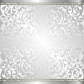 silver background with abstract ornaments