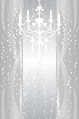 Silver background with chandelier